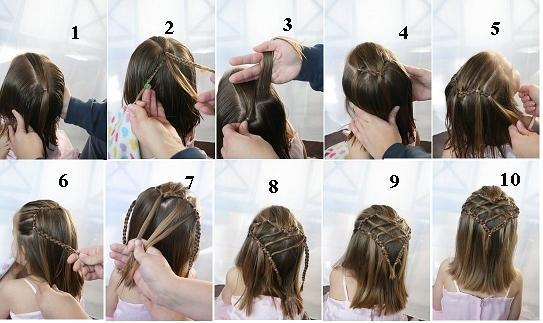 صورة تسريحات شعر بسيطة بالخطوات والصور للاطفال , اخترنا لابنتك اسهل التسريحة 59 2