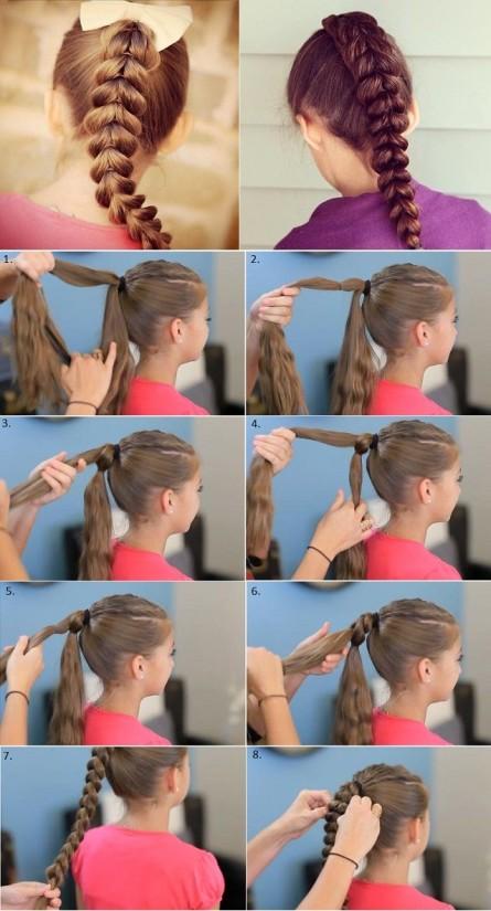 صورة تسريحات شعر بسيطة بالخطوات والصور للاطفال , اخترنا لابنتك اسهل التسريحة 59 3