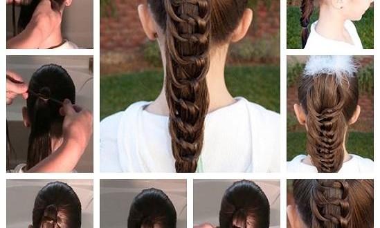 صورة تسريحات شعر بسيطة بالخطوات والصور للاطفال , اخترنا لابنتك اسهل التسريحة 59 5