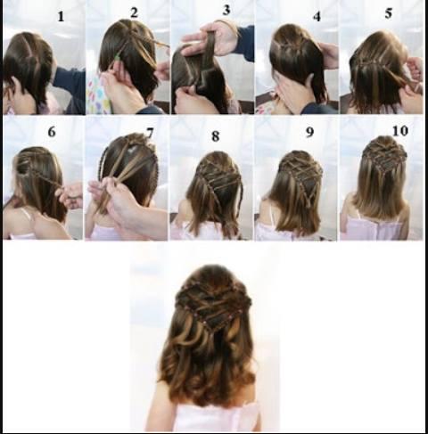 صورة تسريحات شعر بسيطة بالخطوات والصور للاطفال , اخترنا لابنتك اسهل التسريحة 59 6