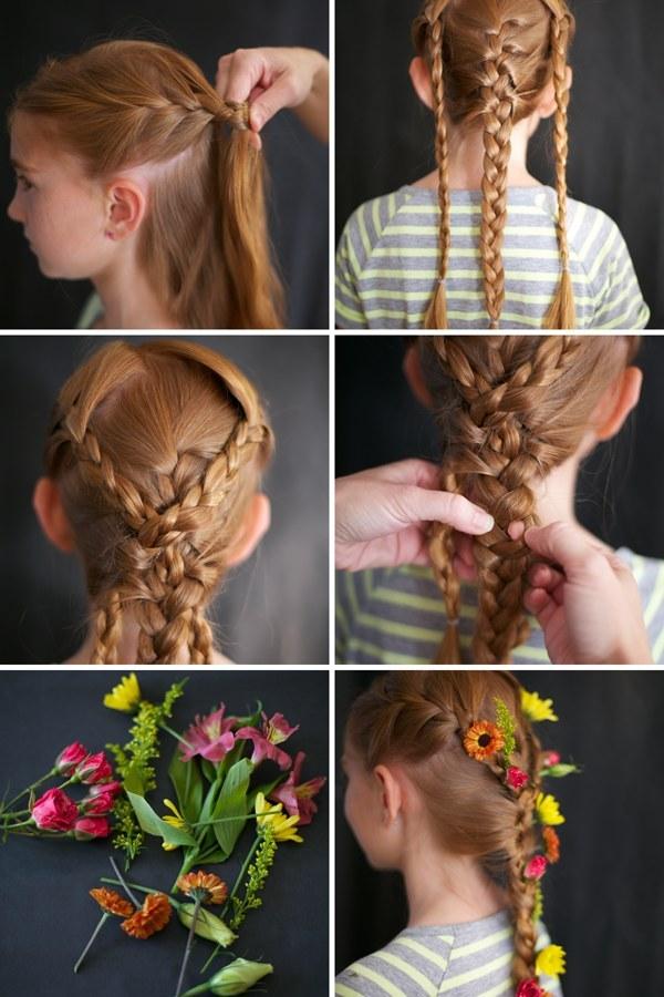 صورة تسريحات شعر بسيطة بالخطوات والصور للاطفال , اخترنا لابنتك اسهل التسريحة 59 8
