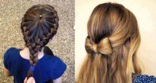 صوره تسريحات شعر للبنوتات احدث تسريحات شعر بنات صغار 2018 , ادلعي بشعرك وجنني اللي حواليك