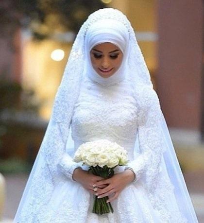 صوره فساتين زفاف 2019 للمحجبات , احدث الصور من معرضي