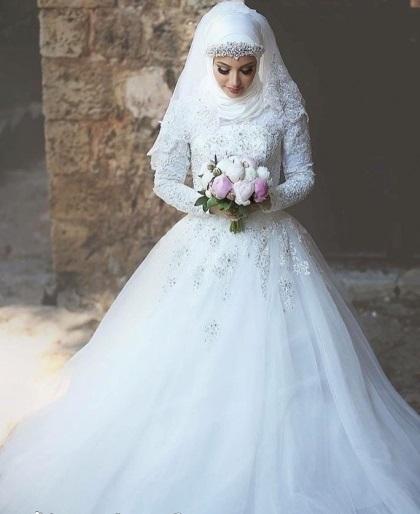 بالصور فساتين زفاف 2019 للمحجبات , احدث الصور من معرضي 197 2