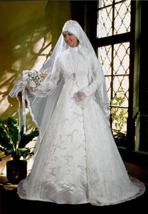 بالصور فساتين زفاف 2019 للمحجبات , احدث الصور من معرضي 197