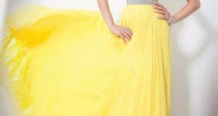 صوره صور فساتين اصفر , اناقتك مع لون الشمس