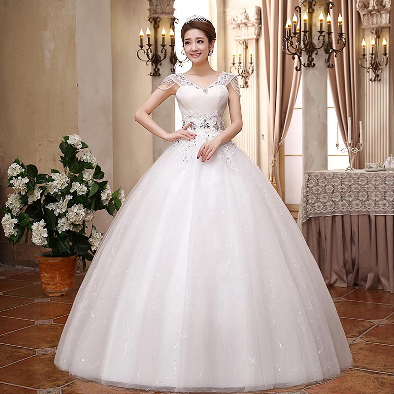 بالصور صور فساتين زفاف روعه , رداء الفرح الابيض 376 2