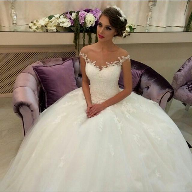 بالصور صور فساتين زفاف روعه , رداء الفرح الابيض 376 6
