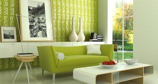 صورة ديكورات باللون الاخضر , اثاث بالوان زاهية