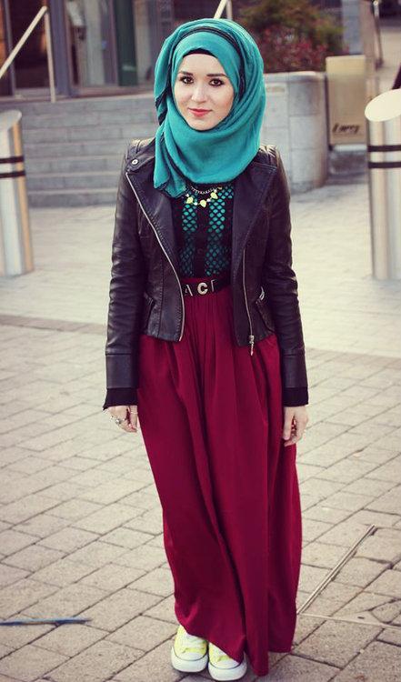 صور ازياء شتاء للمحجبات , اجمل تشكيله من ملابس المحجبات
