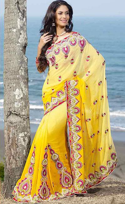 بالصور ازياء هندية للسهرات , اجمل اطلاله بالساري الهندي 112 3
