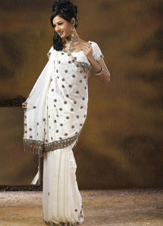 بالصور ازياء هندية للسهرات , اجمل اطلاله بالساري الهندي 112 7
