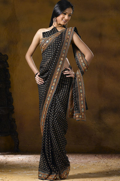 بالصور ازياء هندية للسهرات , اجمل اطلاله بالساري الهندي 112 8