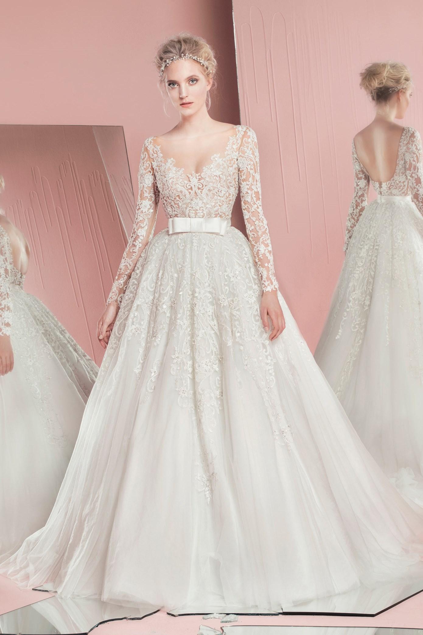 بالصور احدث تصميمات فساتين الافراح , تالقي يوم زفافك 137 8