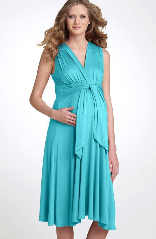 صورة فساتين حوامل ناعمه , اجمل كولكشن لفساتين الحوامل