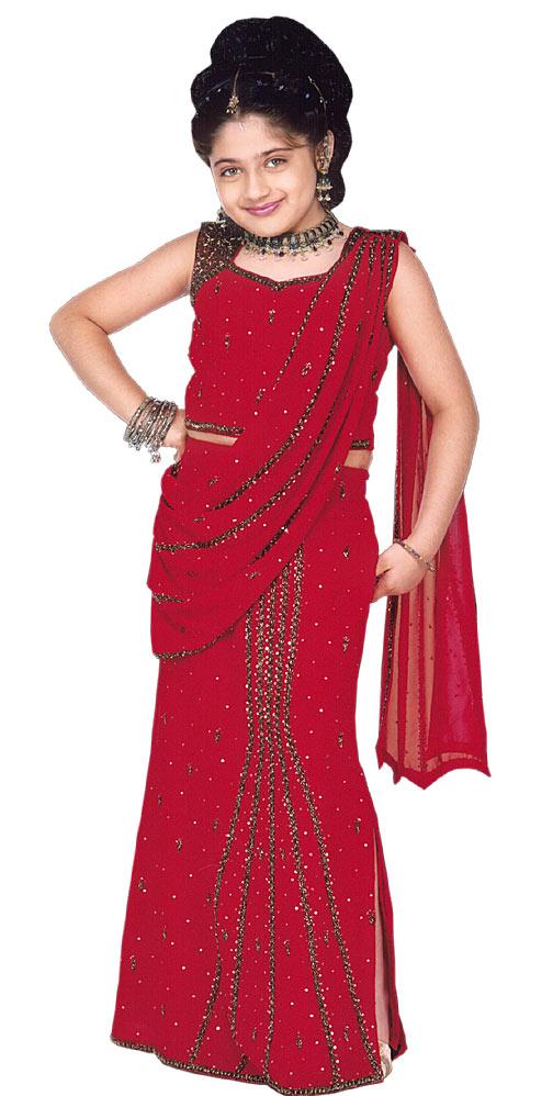 بالصور فساتين هندية للصغار , اروع لافساتين الهنديه 161 1