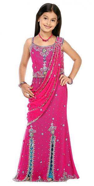 بالصور فساتين هندية للصغار , اروع لافساتين الهنديه 161 2