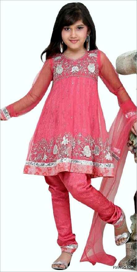 بالصور فساتين هندية للصغار , اروع لافساتين الهنديه 161 3