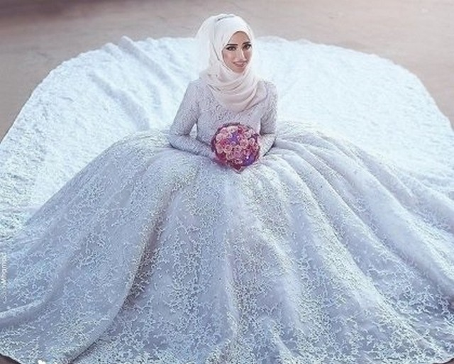 فساتين زفاف 2018 للمحجبات