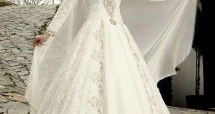 صوره فساتين تركية زفاف , اجمل الفساتين التركيه للمحجبات