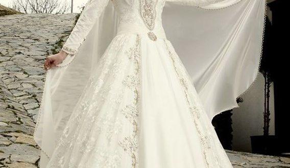 صورة فساتين تركية زفاف , اجمل الفساتين التركيه للمحجبات