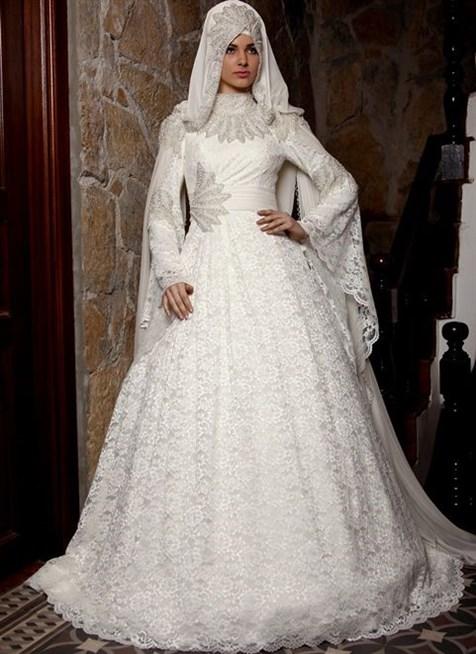 بالصور فساتين تركية زفاف , اجمل الفساتين التركيه للمحجبات 169 2