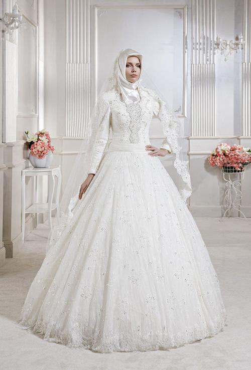 بالصور فساتين تركية زفاف , اجمل الفساتين التركيه للمحجبات 169 4