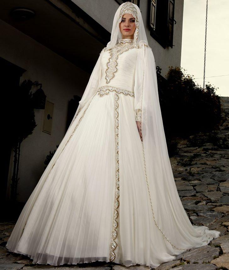 بالصور فساتين تركية زفاف , اجمل الفساتين التركيه للمحجبات 169 6