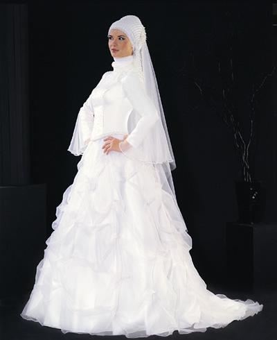 بالصور فساتين تركية زفاف , اجمل الفساتين التركيه للمحجبات 169 8