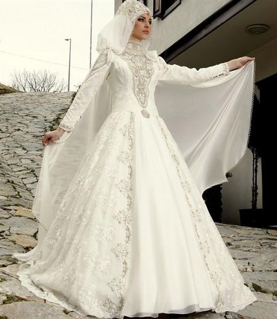صور فساتين تركية زفاف , اجمل الفساتين التركيه للمحجبات