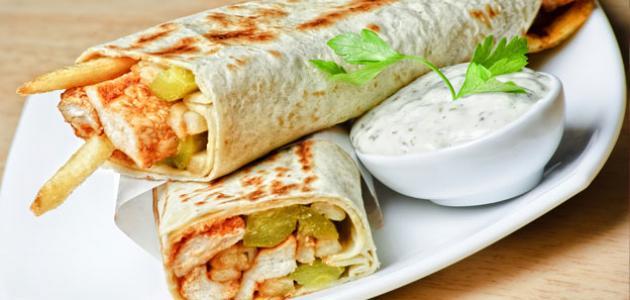صوره سندوتشات شاورما , اطعم الاكلات السورية