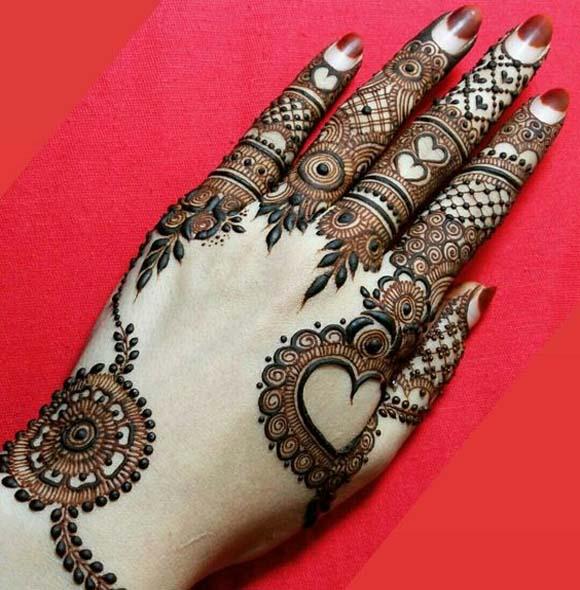 بالصور نقش الحناء , اجمل الرسومات علي الايدي للعروسة 2405 2