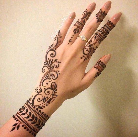 بالصور نقش الحناء , اجمل الرسومات علي الايدي للعروسة 2405 6
