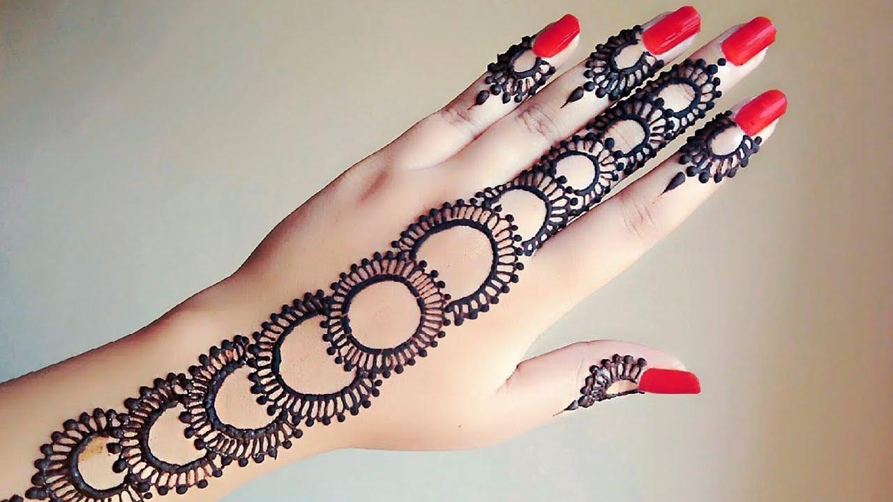 بالصور نقش الحناء , اجمل الرسومات علي الايدي للعروسة 2405 7