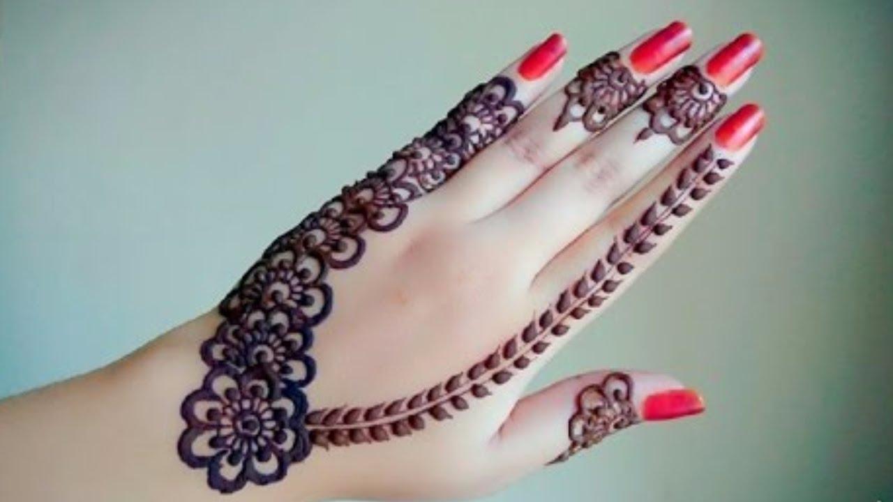 بالصور نقش الحناء , اجمل الرسومات علي الايدي للعروسة 2405