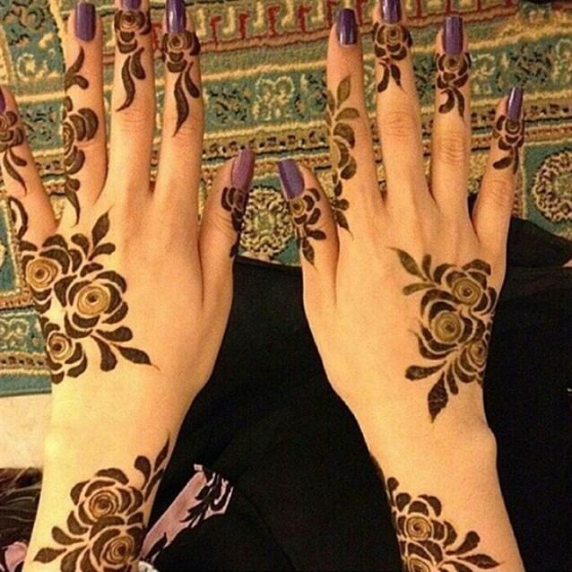 بالصور نقش خليجي ناعم , لكل عروسة يدك تحفة فنية مميزة 2484 7