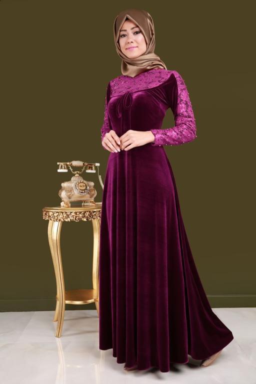 بالصور فساتين محجبات تركى , اروع الموديلات للملابس التركية للنساء المحجبة 1009 2