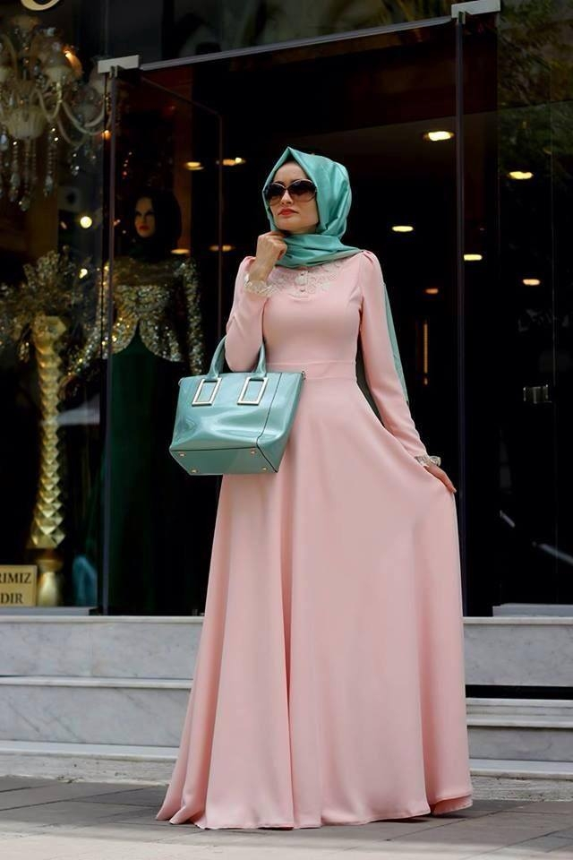 بالصور فساتين محجبات تركى , اروع الموديلات للملابس التركية للنساء المحجبة 1009 4