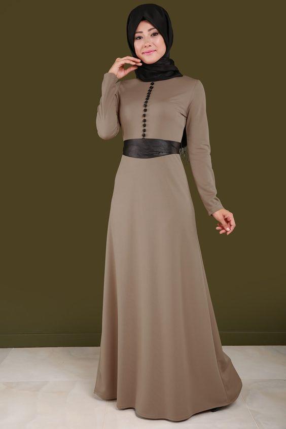 صوره فساتين محجبات تركى , اروع الموديلات للملابس التركية للنساء المحجبة