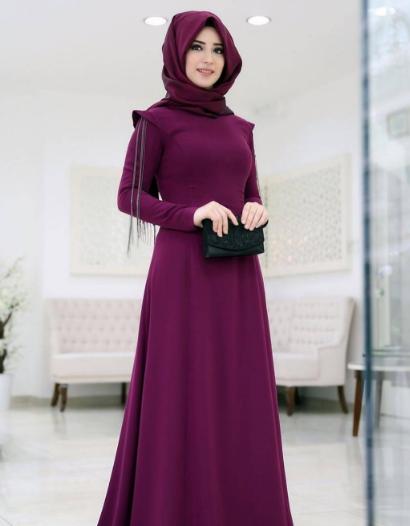 بالصور فساتين محجبات تركى , اروع الموديلات للملابس التركية للنساء المحجبة 1009