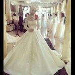 فساتين اعراس فخمه , فساتين زفاف للمحجبات
