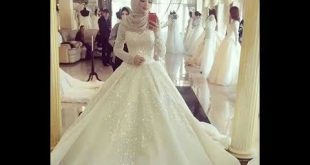 صوره فساتين اعراس فخمه , فساتين زفاف للمحجبات