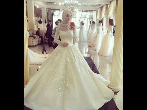 صورة فساتين اعراس فخمه , فساتين زفاف للمحجبات