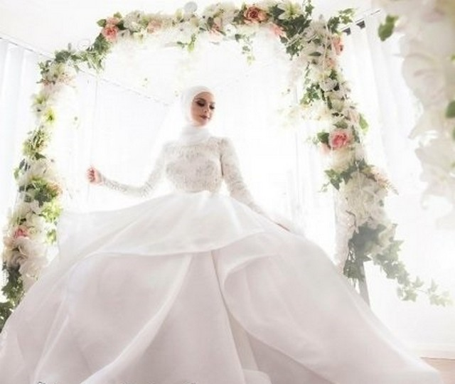 صوره صور فساتين عروس , فستان زفاف ابيض