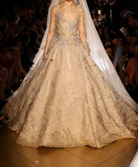 بالصور صور فساتين عروس , فستان زفاف ابيض 1068 2