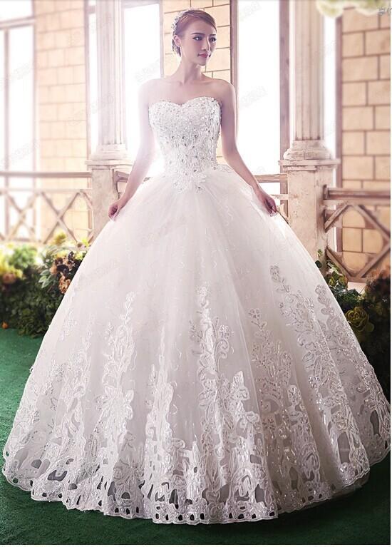 بالصور صور فساتين عروس , فستان زفاف ابيض 1068 3