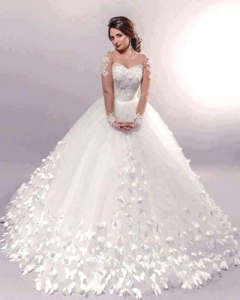 بالصور صور فساتين عروس , فستان زفاف ابيض 1068 5