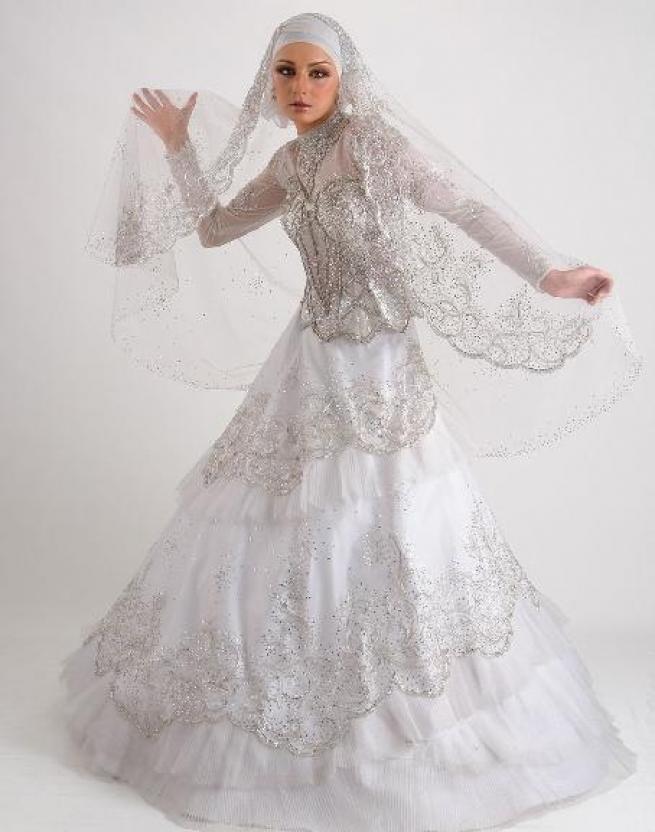 بالصور صور فساتين عروس , فستان زفاف ابيض 1068 6