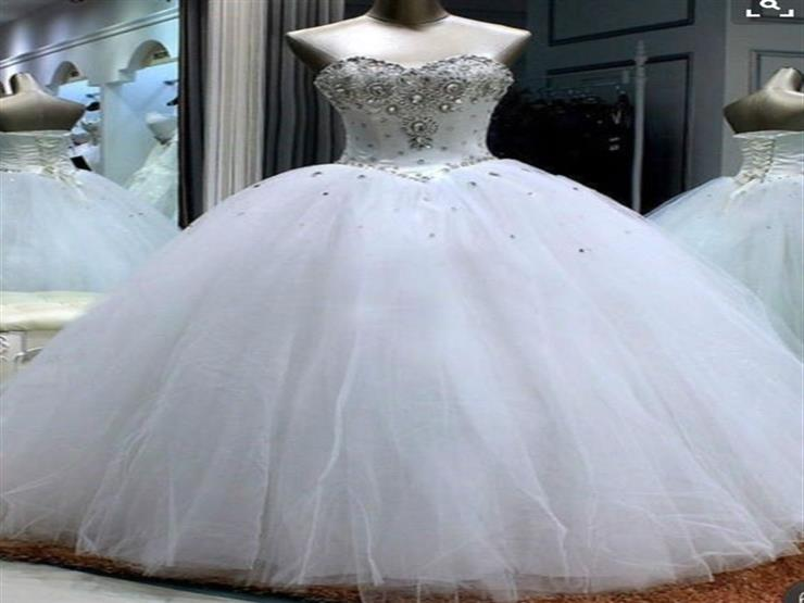 بالصور صور فساتين عروس , فستان زفاف ابيض 1068 7