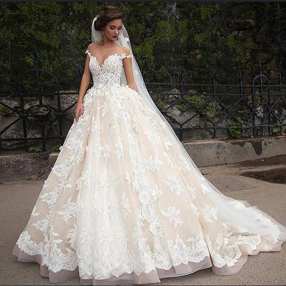 بالصور صور فساتين عروس , فستان زفاف ابيض 1068 9